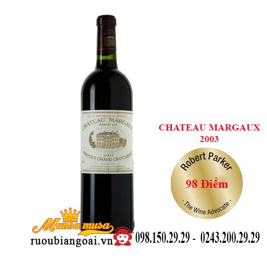 Vang Pháp Chateau Margaux 2003