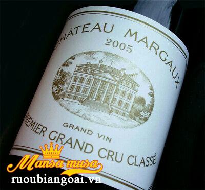 Đặc trưng vang pháp Chateau Margaux 2005