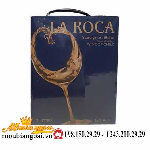 Rượu vang bịch Chile La Roca Sauvignon Blanc trắng