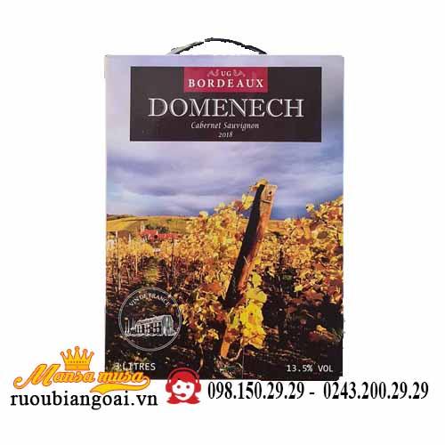 Rượu vang bịch domenech bordeaux