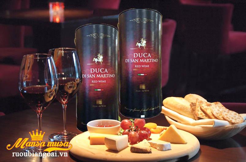 Kết quả hình ảnh cho rượu vang bịch duca disan martino