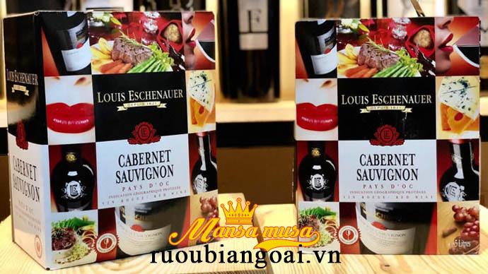 Rượu Vang bịch Louis Eschenauer - Vang Môi (bịch 3L - 5L)