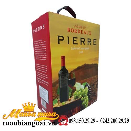 Rượu Vang Bịch Pháp Pierre Bordeaux