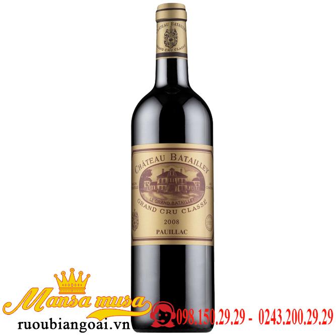 Rượu vang  pháp Chateau Batailley 2008
