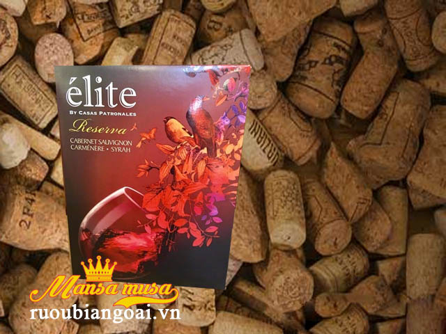 vang bịch Chile Elite 3l và 5l
