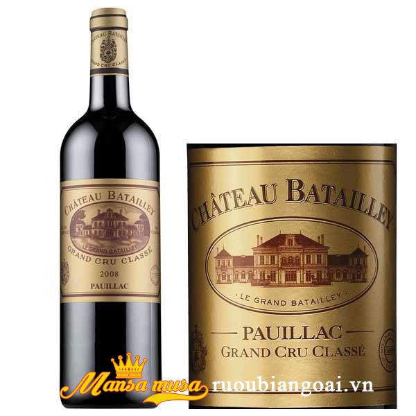 Rượu vang Chateau Batailley 2008
