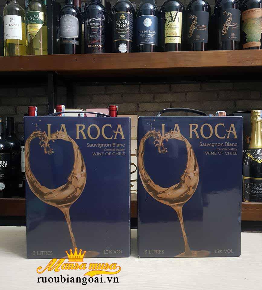 Rượu vang bịch La Roca Sauvignon Blanc trắng