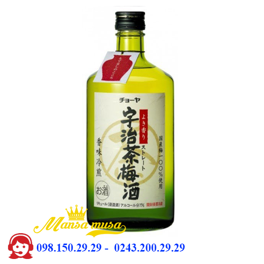 Rượu Choya Green Tea Umeshu 750 ml