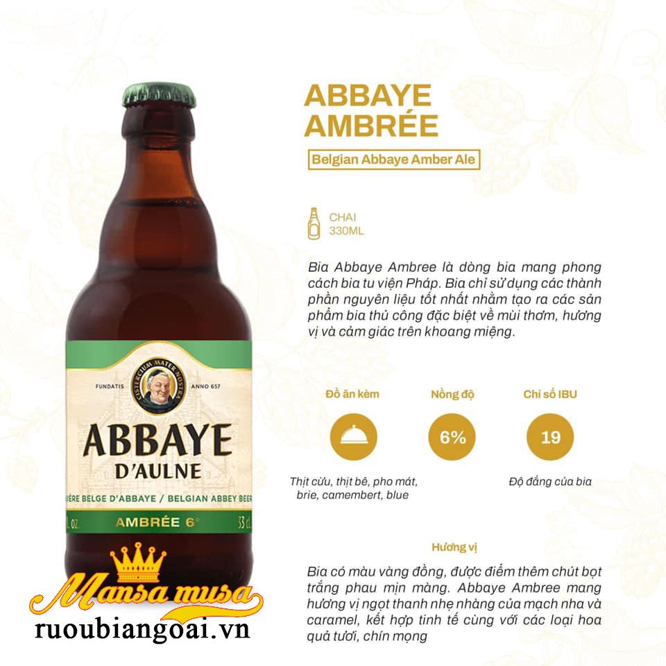 Bia Abbaye D'aulne Ambree