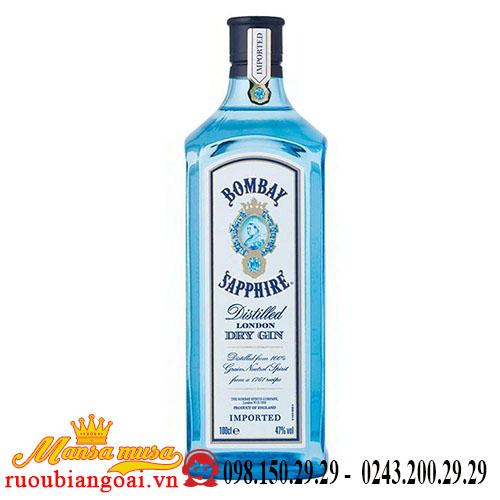 Rượu Gin Bombay Saphire 1Lít