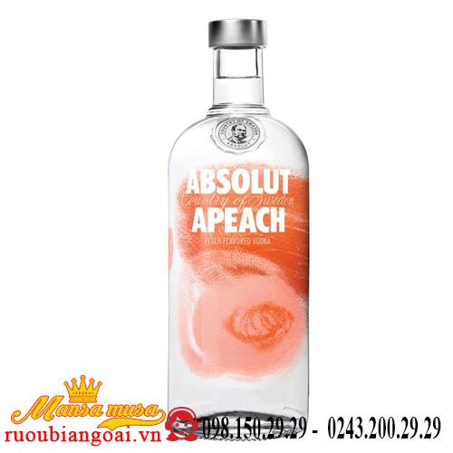 Rượu Vodka Absolut Apeach (đào)
