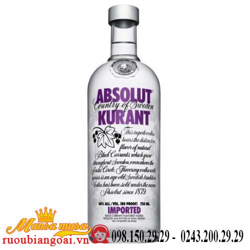 Rượu Vodka Absolut Kurant