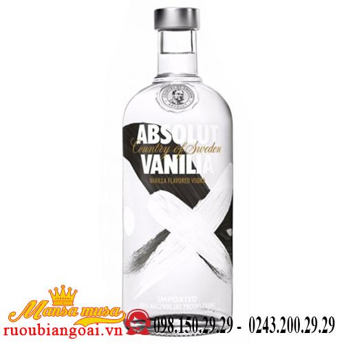 Rượu Vodka Absolut Vanila