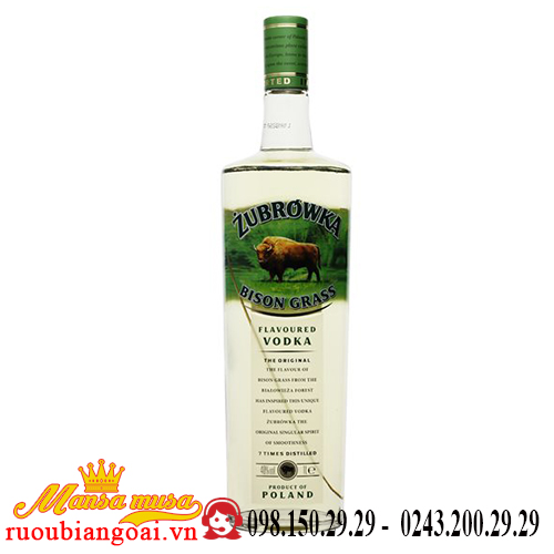 Rượu vodka Zubrowka 1L