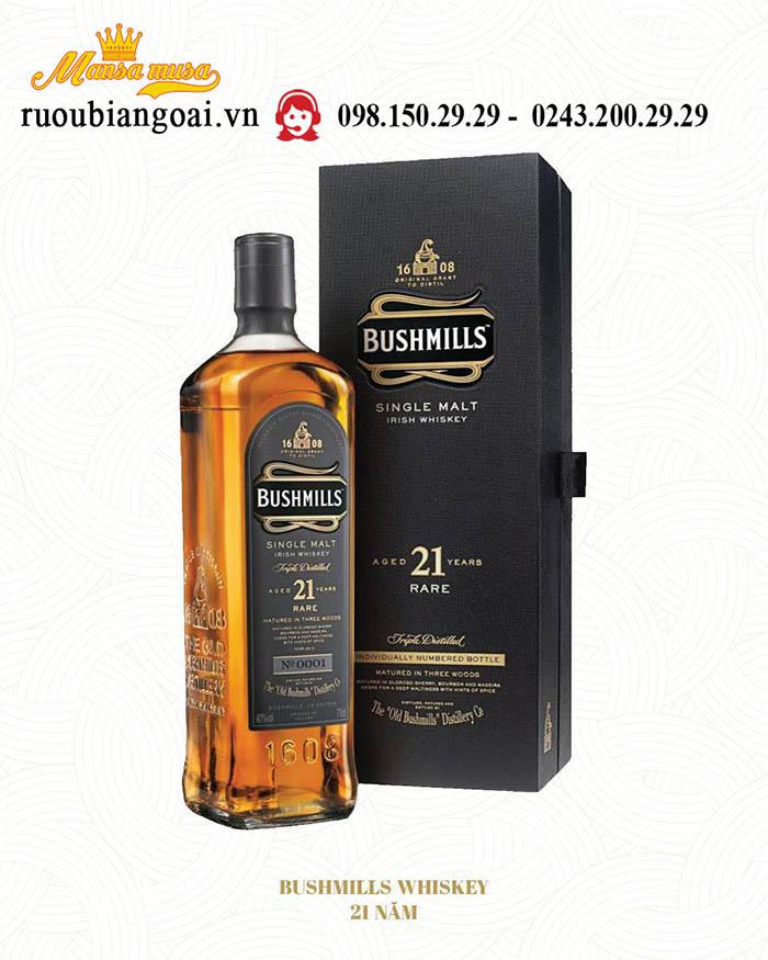 Rượu Whiskey Bushmills 21 Năm