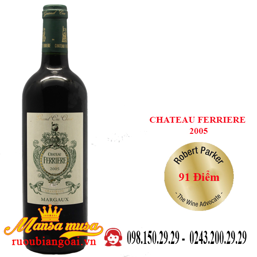 Vang Pháp Chateau Ferriere 2005