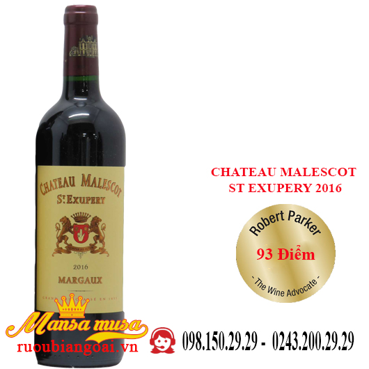 Vang Pháp Chateau Malescot St Exupery 2016