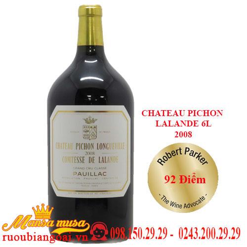 Vang Pháp Chateau Pichon Lalande 6L 2008