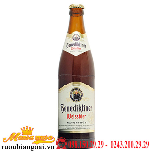 Bia Benediktiner Weissbier 5,4% Đức – thùng 12 chai 500ml