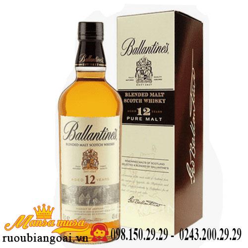 Rượu Ballantine's 12 năm chai tròn