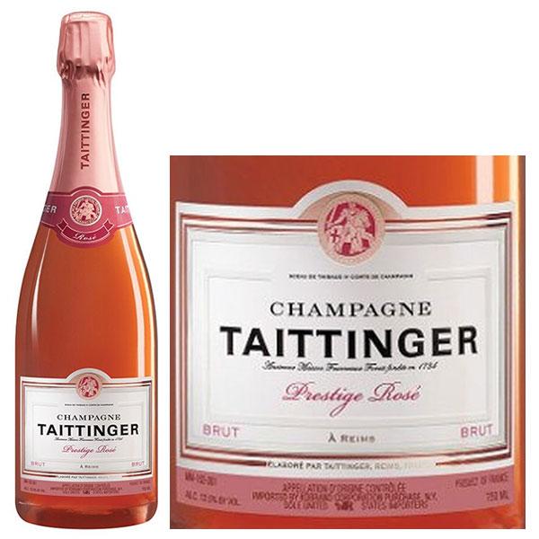Rượu Champagne Taittinger Brut Prestige Rose