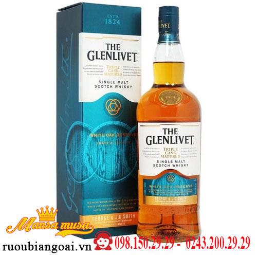 Rượu Glenlivet Triple Cask Matured White Oak