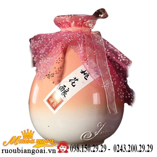 Rượu nữ nhi hồng đào hoa (màu hồng nhạt)