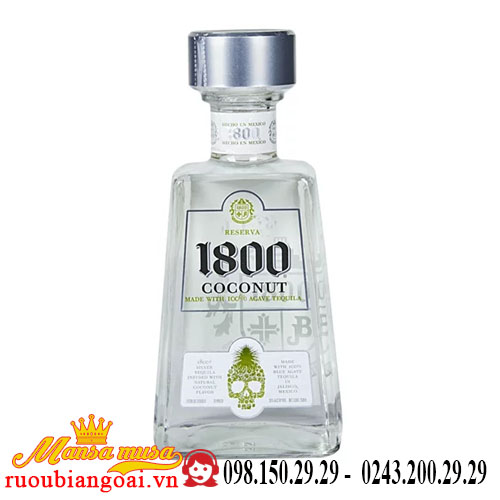 Rượu Tequila 1800 Coconut