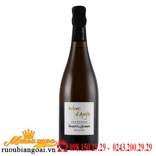 Rượu Vang Blanc d Argile Champagne Vouette Et Sorbee Extra Bru