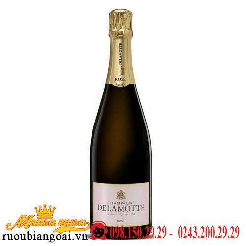 Rượu Vang Nổ Champagne Delamotte Rose