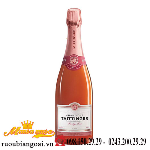 Rượu Vang Nổ Taittinger Champagne Brut Prestige Rose