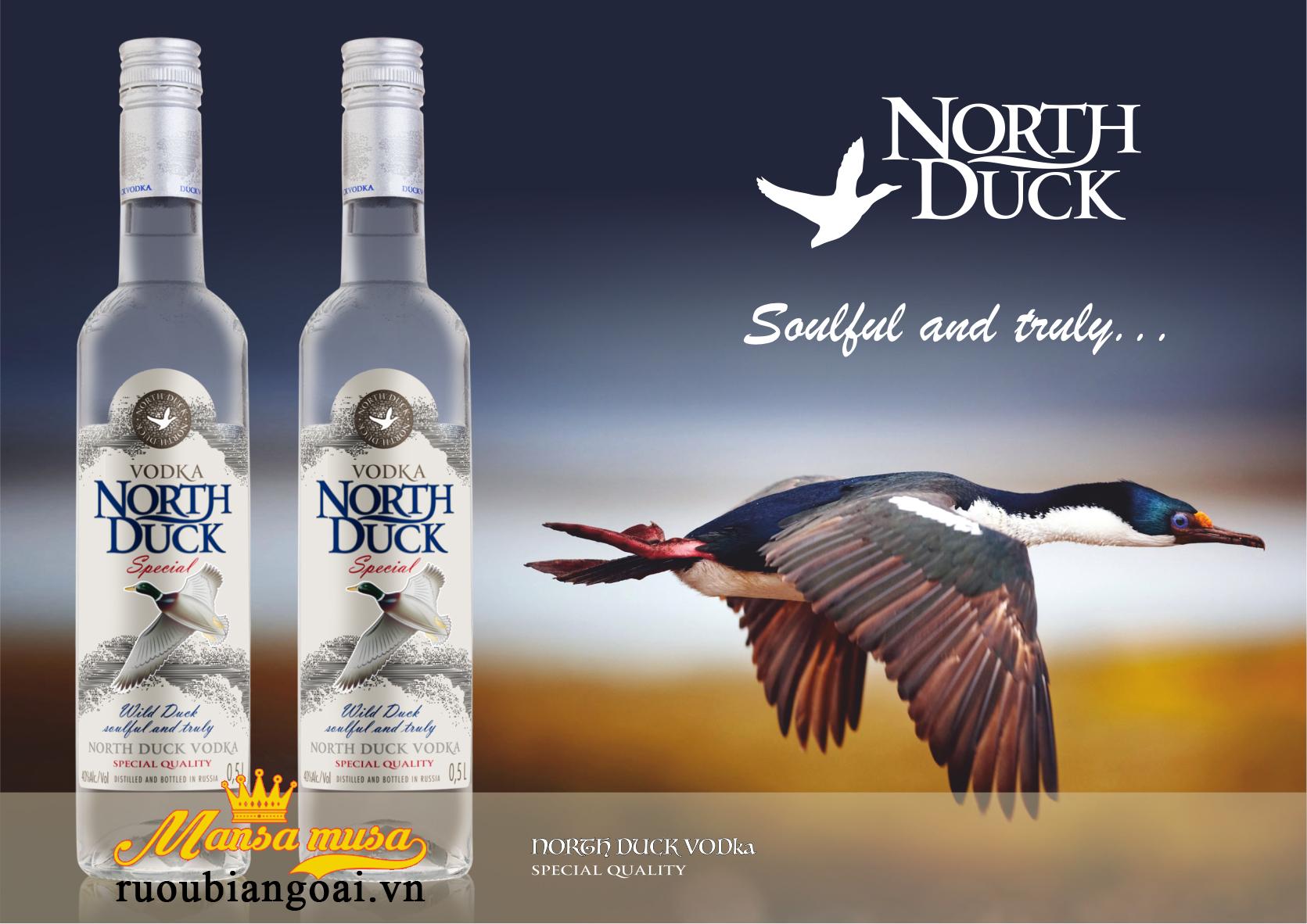 Rượu Vodka North Duck