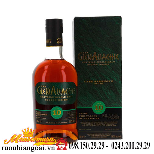 Rượu Whisky GlenAllachie – Cask Strength Batch 3 – 58.2%