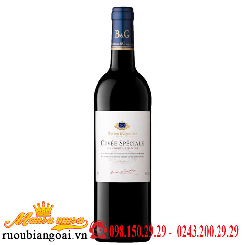 Vang Pháp Barton & Guestier Cuvee Speciale Vin Rouge-Red Wine