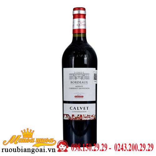 Vang Pháp Calvet Conversation Merlot Cabernet- AOP Bordeaux