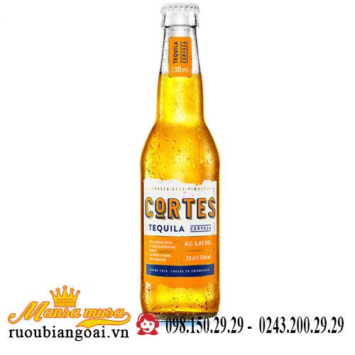 Bia Cortes Tequila 6% – Chai 330ml – Thùng 24 Chai