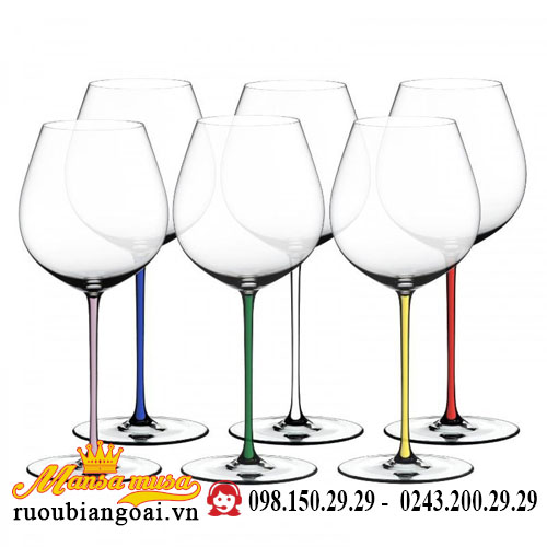Bộ 6 Ly Riedel Fatto A Mano Set Old World Pinot Noir