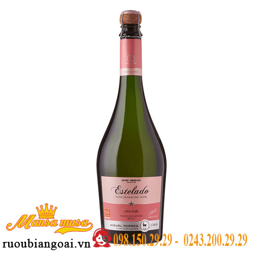 Rượu Vang nổ Chile Estelado Rose Uva Pais Traditional Method