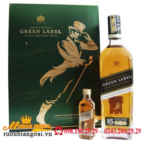 Hộp Quà Rượu Johnnie Walker 15 Green Label