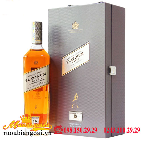Hộp Quà Rượu Johnnie Walker Platinum Label 18