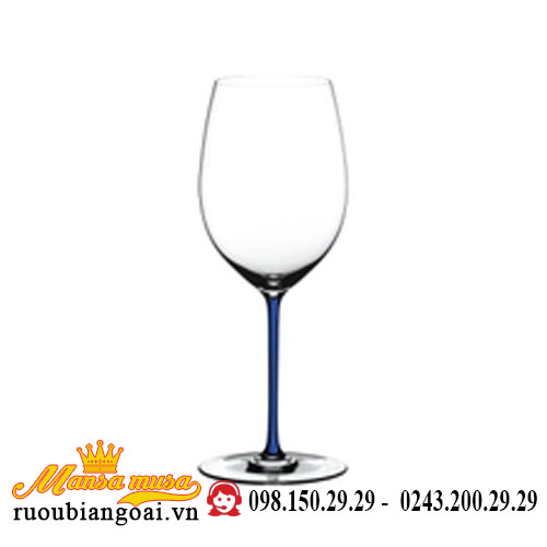 Ly Rượu Vang Riedel Fatto A Mano Merlot Darkblue Rq