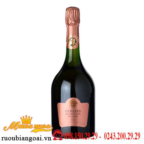 Rượu Champagne Comtes De Champagne Taittinger Rose