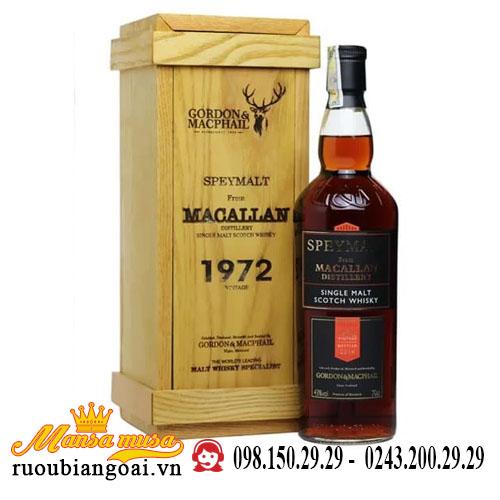 Rượu Macallan 1972 Speymalt G&M