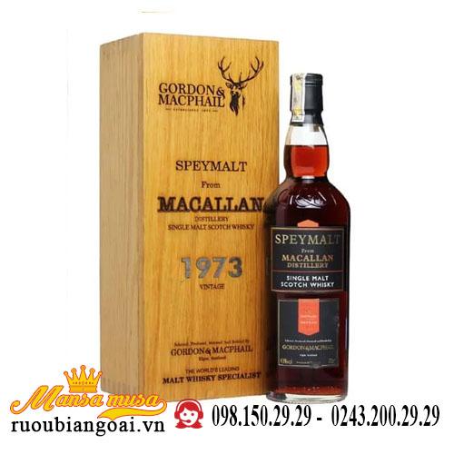 Rượu Macallan 1973 Speymalt G&M