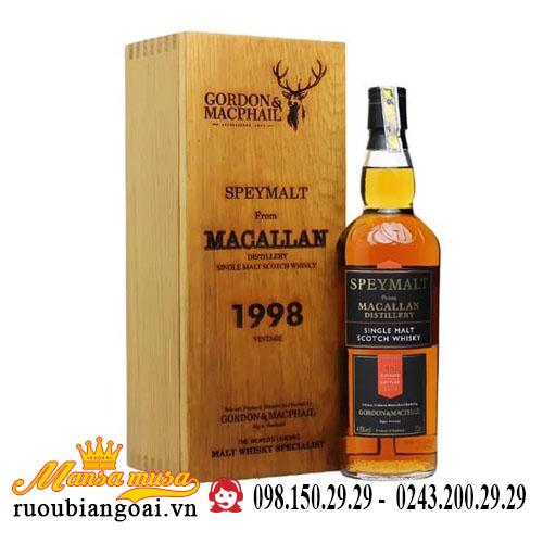 Rượu Macallan 1998 Speymalt G&M