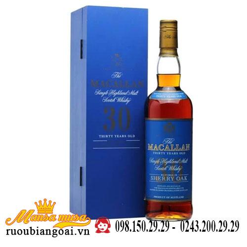 Rượu Macallan 30 Năm Sherry Oak Blue Label