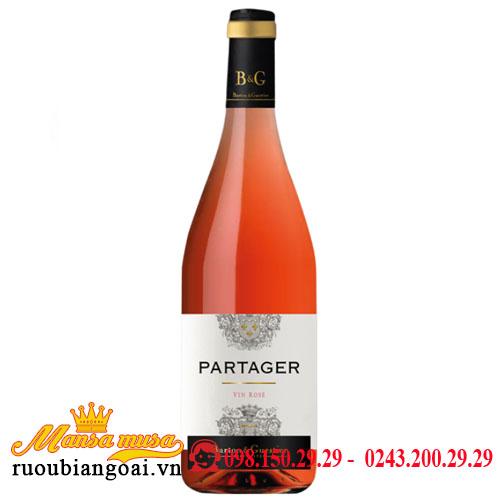 Rượu Vang B&G Partager Rose- VIN Rose