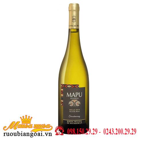 Vang Chile Mapu Reserva Valle Del Maule Chardonnay