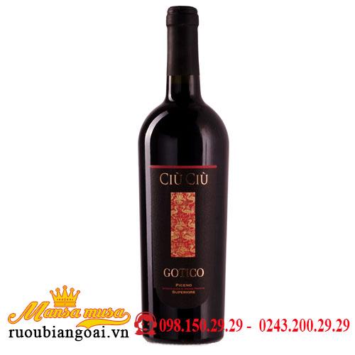 Rượu Vang Ciù Ciù Gotico