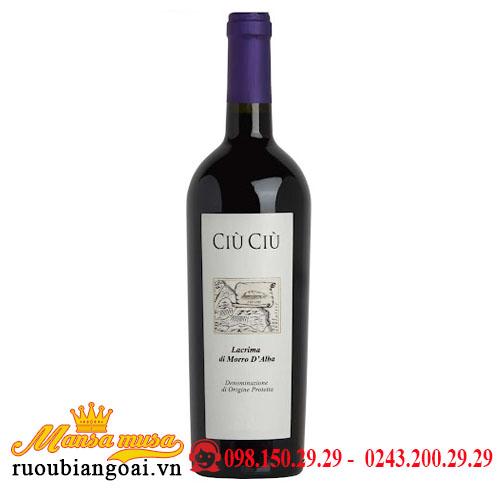 Rượu Vang Ciù Ciù Lacrima Di Morro D'alba Lacrima